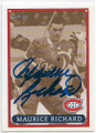 MAURICE RICHARD MONTREAL CANADIENS AUTOGRAPHED HOCKEY CARD #52520G