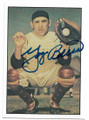 YOGI BERRA NEW YORK YANKEES AUTOGRAPHED VINTAGE BASEBALL CARD #52720D
