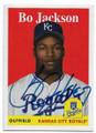 BO JACKSON KANSAS CITY ROYALS AUTOGRAPHED BASEBALL CARD #52820G