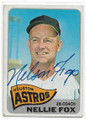NELLIE FOX HOUSTON ASTROS AUTOGRAPHED VINTAGE BASEBALL CARD #53020E