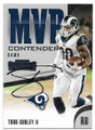 TODD GURLEY II LOS ANGELES RAMS AUTOGRAPHED FOOTBALL CARD #53120J