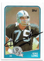 HOWIE LONG LOS ANGELES RAIDERS AUTOGRAPHED VINTAGE FOOTBALL CARD #60120C