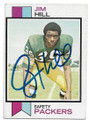 JIM HILL GREEN BAY PACKERS AUTOGRAPHED VINTAGE ROOKIE FOOTBALL CARD #60220H