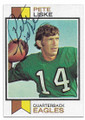 PETE LISKE PHILADELPHIA EAGLES AUTOGRAPHED VINTAGE FOOTBALL CARD #60320C