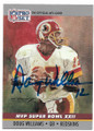 DOUG WILLIAMS WASHINGTON REDSKINS AUTOGRAPHED VINTAGE FOOTBALL CARD #60320D