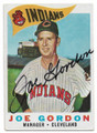 JOE GORDON CLEVELAND INDIANS AUTOGRAPHED VINTAGE BASEBALL CARD #60320E