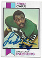 FRED CARR GREEN BAY PACKERS AUTOGRAPHED VINTAGE ROOKIE FOOTBALL CARD #60520D