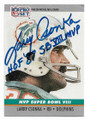 LARRY CSONKA NEW YORK GIANTS AUTOGRAPHED VINTAGE FOOTBALL CARD #60520F