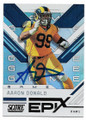 AARON DONALD LOS ANGELES RAMS AUTOGRAPHED FOOTBALL CARD #60620E