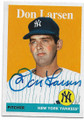 DON LARSEN NEW YORK YANKEES AUTOGRAPHED BASEBALL CARD #60720C