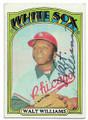 WALT WILLIAMS CHICAGO WHITE SOX AUTOGRAPHED VINTAGE BASEBALL CARD #61120F