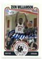 ZION WILLIAMSON SPARTANBURG DAY SCHOOL AUTOGRAPHED ROOKIE BASKETBALL CARD #61420A