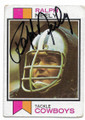 RALPH NEELY DALLAS COWBOYS AUTOGRAPHED VINTAGE FOOTBALL CARD #61420E