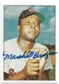 MARSHALL BRIDGES WASHINGTON SENATORS AUTOGRAPHED VINTAGE BASEBALL CARD #61620E