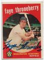 FAYE THRONEBERRY WASHINGTON SENATORS AUTOGRAPHED VINTAGE BASEBALL CARD #61720A