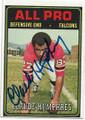 CLAUDE HUMPHREY ATLANTA FALCONS AUTOGRAPHED VINTAGE FOOTBALL CARD #61920H
