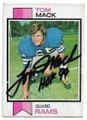 TOM MACK LOS ANGELES RAMS AUTOGRAPHED VINTAGE FOOTBALL CARD #62020E