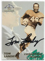 TOM LANDRY NEW YORK GIANTS AND DALLAS COWBOYS AUTOGRAPHED FOOTBALL CARD #62220F