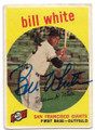 BILL WHITE SAN FRANCISCO GIANTS AUTOGRAPHED VINTAGE ROOKIE BASEBALL CARD #62520C