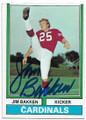 JIM BAKKEN ST LOUIS CARDINALS AUTOGRAPHED VINTAGE FOOTBALL CARD #62520D
