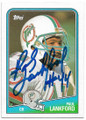 PAULLANKFORD MIAMI DOLPHINS AUTOGRAPHED VINTAGE ROOKIE FOOTBALL CARD #62520H