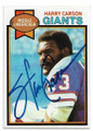 HARRY CARSON NEW YORK GIANTS AUOGRAPHED VINTAGE FOOTBALL CARD #62620G