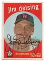 JIM DELSING WASHINGTON SENATORS AUTOGRAPHED VINTAGE BASEBALL CARD #62720A