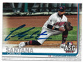 CARLOS SANTANA CLEVELAND INDIANS AUTOGRAPHED ALL-STAR GAME BASEBALL CARD #62720F