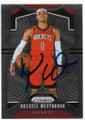 RUSSELL WESTBROOK HOUSTON ROCKETS AUTOGRAPHED BASKETBALL CARD #62720G