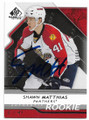 SHAWN MATTHIAS FLORIDA PANTHERS AUTOGRAPHED & NUMBERED ROOKIE HOCKEY CARD #62720H