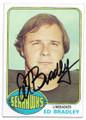 ED BRADLEY SEATTLE SEAHAWKS AUTOGRAPHED VINTAGE FOOTBALL CARD #62820E