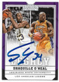 SHAQUILLE O'NEAL LOUISIANA STATE UNIVERSITY TIGERS & LOS ANGELES LAKERS AUTOGRAPHED BASKETBALL CARD #62920A