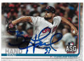 BRAD HAND CLEVELAND INDIANS AUTOGRAPHED ALL-STAR GAME BASEBALL CARD #63020A