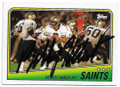 BOBBY HEBERT NEW ORLEANS SAINTS AUTOGRAPHED VINTAGE FOOTBALL CARD #63020G