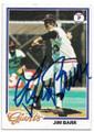 JIM BARR SAN FRANCISCO GIANTS AUTOGRAPHED VINTAGE BASEBALL CARD #70120F