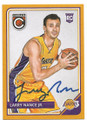 LARRY NANCE JR LOS ANGELES LAKERS AUTOGRAPHED ROOKIE BASKETBALL CARD #70220B