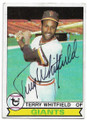 TERRY WHITFIELD SAN FRANCISCO GIANTS AUTOGRAPHED VINTAGE BASEBALL CARD #70220F