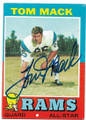 TOM MACK LOS ANGELES RAMS AUTOGRAPHED VINTAGE ALL-STAR FOOTBALL CARD #70320B