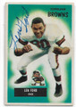 LEN FORD CLEVELAND BROWNS AUTOGRAPHED VINTAGE FOOTBALL CARD #70420C