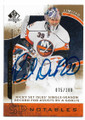 RICK DiPIETRO NEW YORK ISLANDERS AUTOGRAPHED & NUMBERED HOCKEY CARD #70420E