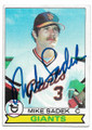 MIKE SADEK SAN FRANCISCO GIANTS AUTOGRAPHED VINTAGE BASEBALL CARD #70620C