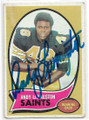 ANDY LIVINGSTON NEW ORLEANS SAINTS AUTOGRAPHED VINTAGE FOOTBALL CARD #70620F