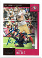 GEORGE KITTLE SAN FRANCISCO 49ers AUTOGRAPHED FOOTBALL CARD #70920H