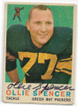 OLLIE SPENCER GREEN BAY PACKERS AUTOGRAPHED VINTAGE FOOTBALL CARD #71120B
