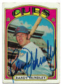 RANDY HUNDLEY CHICAGO CUBS AUTOGRAPHED VINTAGE BASEBALL CARD #71220A