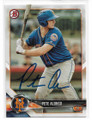 PETE ALONSO NEW YORK METS AUTOGRAPHED ROOKIE BASEBALL CARD #71220E