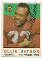 OLLIE MATSON LOS ANGELES RAMS AUTOGRAPHED VINTAGE FOOTBALL CARD #71320D