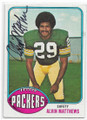 ALVIN MATTHEWS GREEN BAY PACKERS AUTOGRAPHED VINTAGE FOOTBALL CARD #71420C