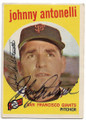 JOHNNY ANTONELLI SAN FRANCISCO GIANTS AUTOGRAPHED VINTAGE BASEBALL CARD #71420H