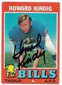 HOWARD KINDIG BUFFALO BILLS AUTOGRAPHED VINTAGE FOOTBALL CARD #71720E